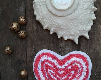 Patch heart lollipop brooches hand embroidered Handmade accessories
