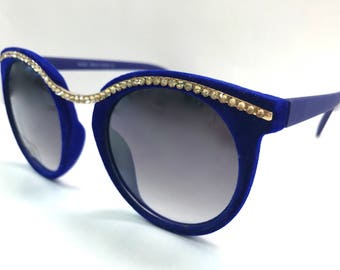 Cat-eye Sunglasses made with Swarovski Crystals 400UV