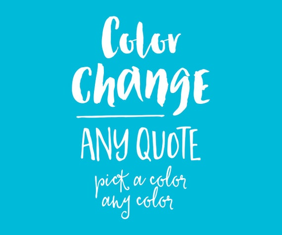 Add On - Color Change ONE Printable