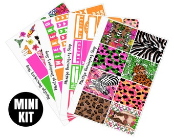 30% OFF Jungle Mini Weekly Kit | 95+ Planner Stickers