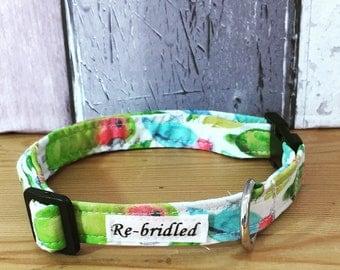 Lovebird Dog Collar, Dog Collar, Cute Dog Collar, Luxury Dog Collar, puppy collar, cute puppy collar, dog collar & bandana, matching bandana
