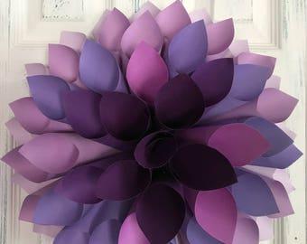 Purple Paper Dahlia