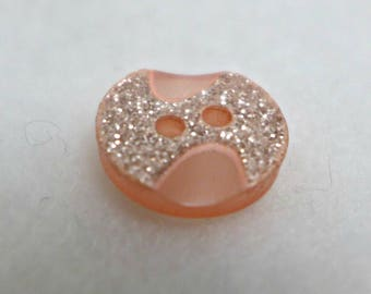 12 small buttons - pink - 13mm