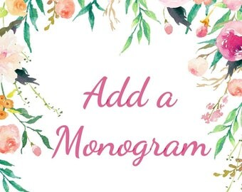 Add a monogram to any wreath