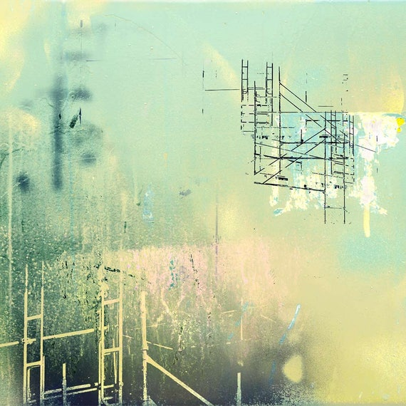 Dream Scaffold, holiday sale, abstract art, architectural print, modern art,affordable art,limited edition print,art for interiors,photo art