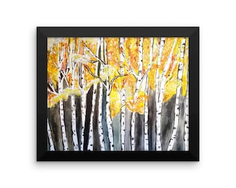 Aspen Trees Framed poster
