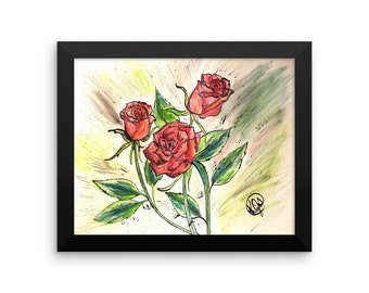 Roses are Red Framed poster