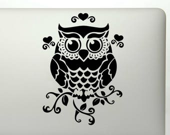 Owl die cut vinyl decal sticker for car windows, laptops, tumblers, walls, and more
