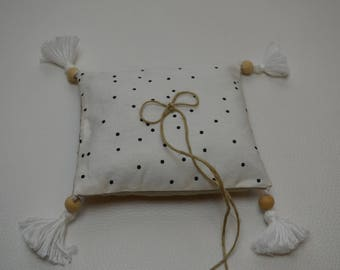 ring bearer pillow dot Bohemian hippie vintage