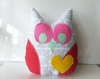 Friendship heart owl stuffed animal