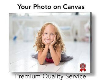 Your Personalised Photo to Canvas Box Print, Many sizes Available A4, A3, A2, A1 +++