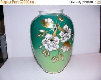 ON SALE Vintage Gold Relief Vase