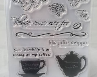 Time for tea - A6 Stamp Set by Imagine Design Create