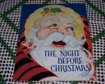 Vintage Night Before Christmas, Fern Bisel Peat, Vintage Christmas Book, Saalfield , 1930's Christmas