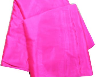 Solid Dress Fabric Silk Blend Material Bright Pink By the Yard Crafted Material Sewing Dress Making Fabric Art Decor Designer Fabric