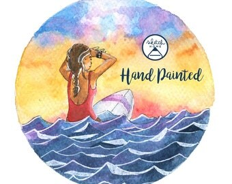 Watercolor Hand Painted – Surfing into the Sunset – SketchHome