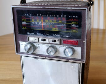 Very Retro Sharleen portable multi band solid state radio, probably 1975