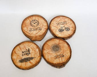 Recycled Wood Coasters