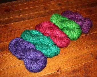 Alpaca Yarn, Super Chunky, Greener Shade Dye