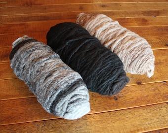 Alpaca Yarn, Core Spun, Natural, Bumps