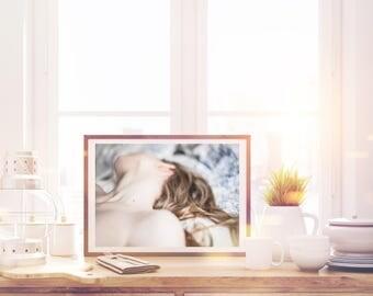 Photography fine art photography of nude woman sleeping sleeping woman blond hair portrait