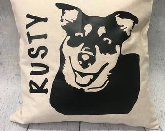 Custom pet portrait pillow | Custom Gift | Dog Pillow | Pillow Cover