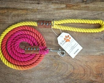 Sunny Daze Rainbow Rope Leash (Made to order)