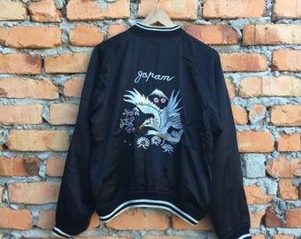 Vintage Japanese Traditional SUKAJAN dragon yakuza silk jacket
