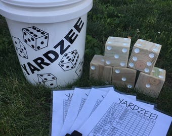 Sale!! Yardzee, Yard Dice, Outdoor Games, Father's Day, BBQ Fun, Reception Fun, Camping Games