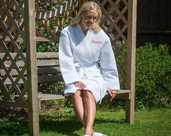 Personalised Waffle Dressing Gown