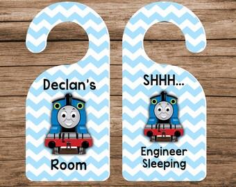 Train Door Hanger Thomas Door Hanger Little Boyu0027s Room Blue Door Hanger  sc 1 st  Etsy & Thomas the train room decor | Etsy CA pezcame.com