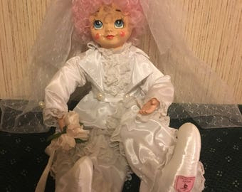 Collectible clown doll