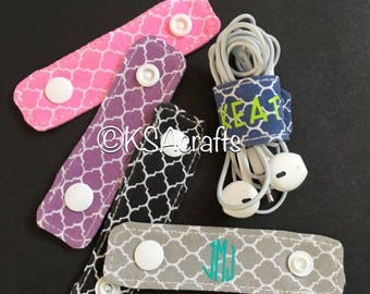 Personalized Cord Wraps, Cord Wrap, personalized gift, monogrammed