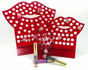 NEW, EASIER design, Red Acrylic LipSense, lipstick stand, LipSense Stand, Display, SeneGence, Lips shaped, Lip, Kiss
