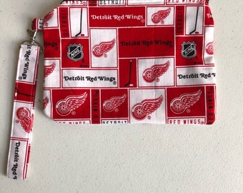 Detroit Red Wings zippered pouch