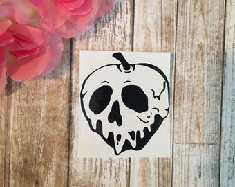 Poison Apple Decal  Snow White Decal   Halloween Decal   Fall Decal