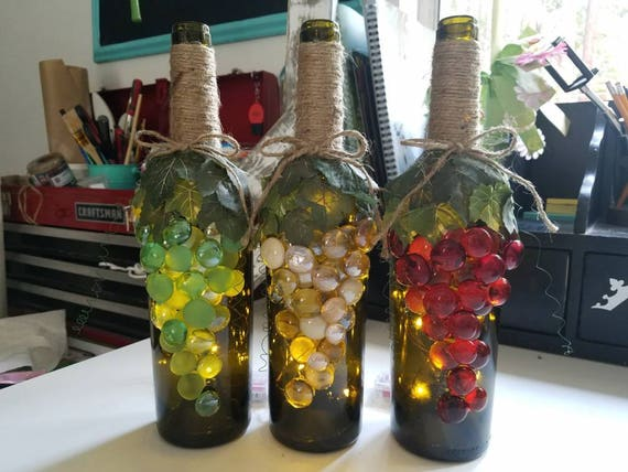 Decorative Wine Bottles Endearing Grape Wine Bottles Grape Decor Decorative Wine Bottles Inspiration