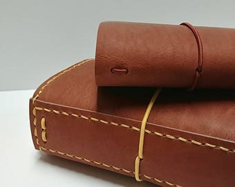 Genuine Leather Traveler's Notebook -  Canyon Brown