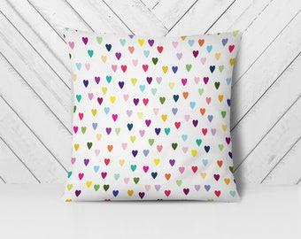 Heart Pillow, Girly Pillow, Love Pillow, Kids Pillow, Colorful Pillow, Decorative Pillow Cover, Throw Pillows, Accent Pillow Cover