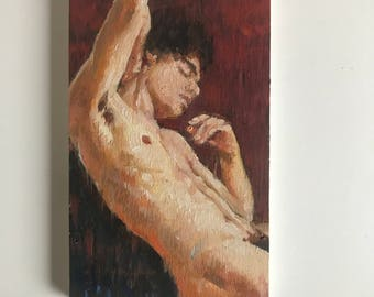 """Jude - a small original oil painting (3x5"""")"""