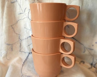 Melmac stacking cups