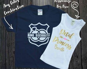 Petal Princess Shirt, Petal Patrol Shirt, Ring Security Shir,Flower Girl Shirt, Flower Girl Gift, Junior Bridesmaid, Ring Bearer Shirt