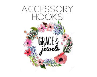 Hair Bow Holder Add-On: Accessory Hooks