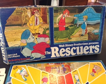 Vintage Disney The Rescuers movie board game 1977 Parker Brothers