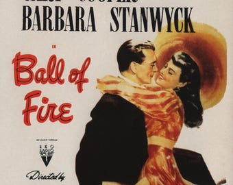 FREE SHIPPING Ball of Fire movie poster 11x17