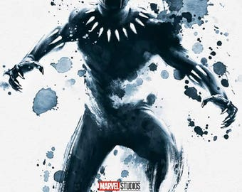 FREE SHIPPING Black Panther movie poster 11x17