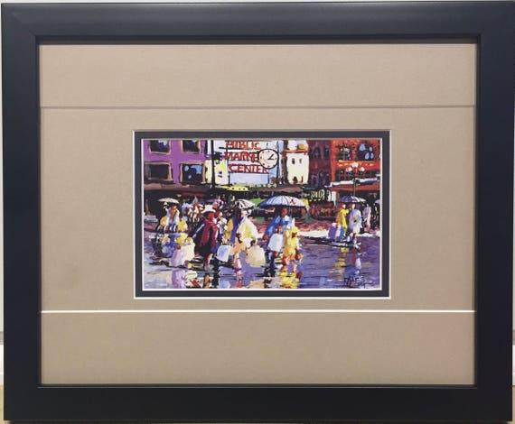 8 x 10 Seattle Public Market - Framed Art