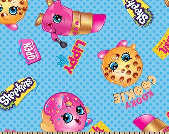 "Shopkins Friends fabric for Springs Creative, 43"" wide, 100% cotton, by the half yard"