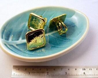 4 pieces Grosse Bague carré couleur OR