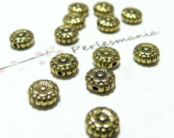 20pcs beads flat flower Golden sunflower 264Y No.